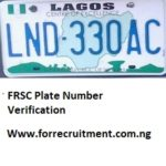 Lagos State FRSC Plate Number Verification